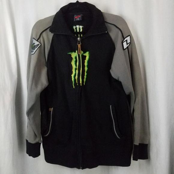 Monster Energy Jackets & Blazers - Energy Drink  jacket size L black grey